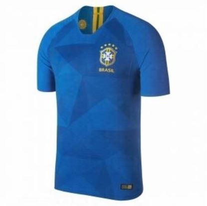 Picture of Brazil Away World Cup Short Sleeve Jersey 2018-Blue