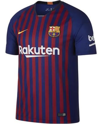 Picture of  2018-19 Season Barcelona Home Short Sleeve Jersey-Mesh Cotton