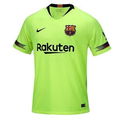 Picture of 2018-19 Season Barcelona Away Short Sleeve Jersey-Mesh Cotton