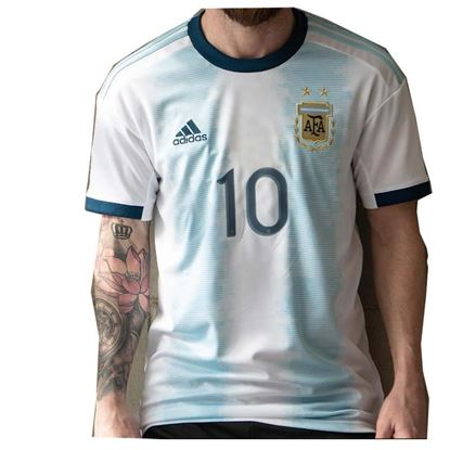 Picture of Argentina Copa America 2019 Messi #10 Home Short Sleeve Jersey