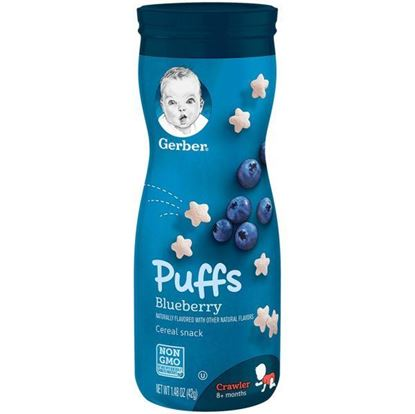 Picture of Gerber Blueberry Puffs - 42 gm