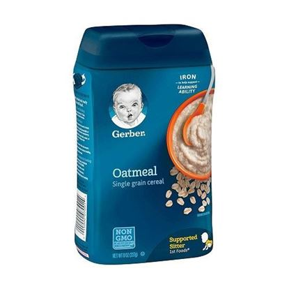 Picture of Gerber_Baby Single Grain Oatmeal Baby Cereal, 8 oz Container 227gm