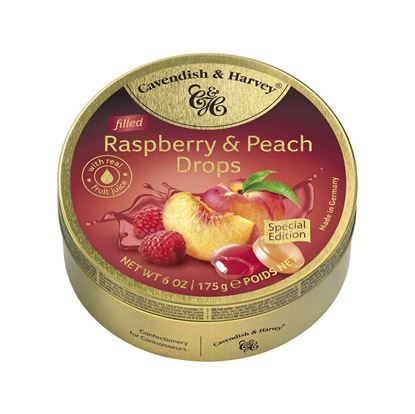 Picture of Cavendish and Harvey Raspberry & Peach Drops Candy (Filled) - 175g