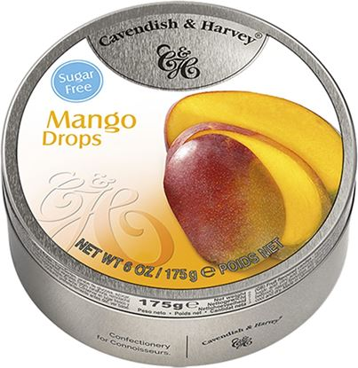 Picture of Cavendish & Harvey Sugar Free Mango Drops Tin - 175 gm