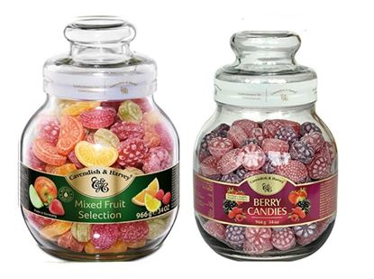 Picture of Cavendish & Harvey Berry & Mixed Fruit Candies Drops # 2 Jar - 966g each