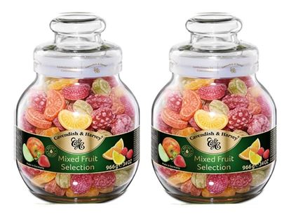 Picture of Cavendish & Harvey Mix Fruit Candy 2 Jar - 966 gm each