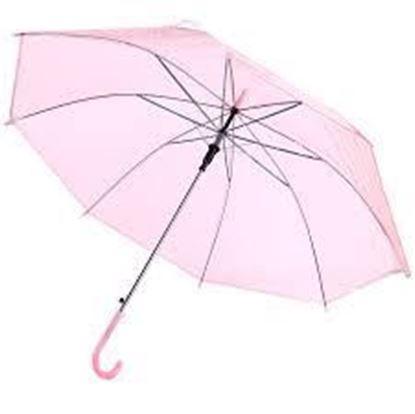 Picture of Transparent umbrella pink