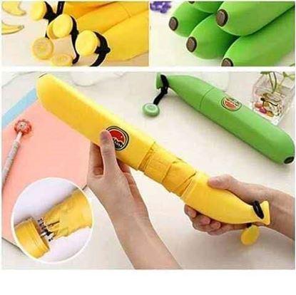 Picture of Banana Umbrella,fruit foldable yellow rain raining waterproof,Fruit advertising umbrellas Fashion creative umbrella Banana umbrellas Funny umbrella,
