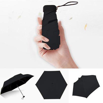 Picture of Fashion Portable Unisex Umbrella Mini Capsule Pocket-size UV Protection Rain Folding Compact Small Capsule Umbrella
