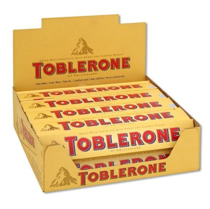 Picture of  Toblerone Milk Chocolate Full Box 20pcs - 100g each