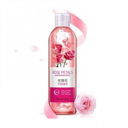 Picture of Bioaqua Rose Petals Essence Water Face Toners Shrink Pores Anti-aging Whitening Moisturizing Oil Control Skin Care Toner 250ml