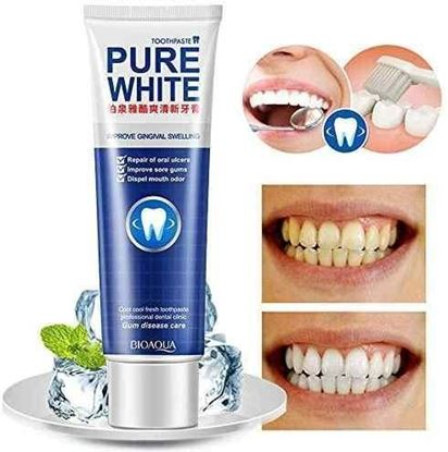 Picture of Bioaqua Toothpaste Whitening Herbal Mint +Cranberry Fresh Remove Yellow Stains