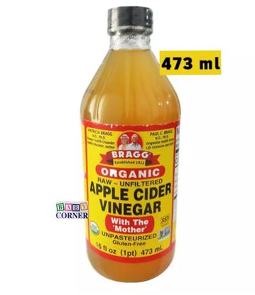 Picture of Organic Apple Cider Vinegar With The Mother (Unpasteurized)-473 ml(USA)