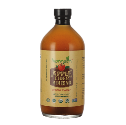 Picture of Nanneen Organic Apple Cider Vinegar with The Mother (Raw-Unfiltered) - 500 ml- USA