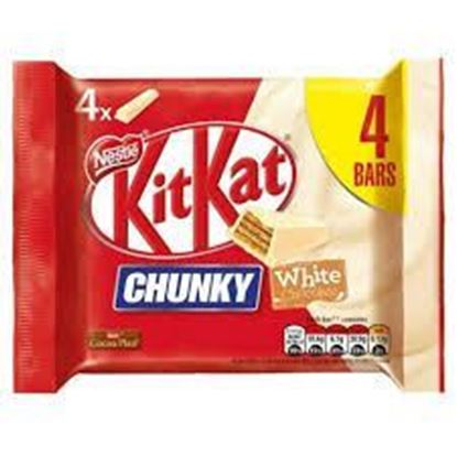 Picture of Kit Kat Chunky White  4pcs Packet - 160gm