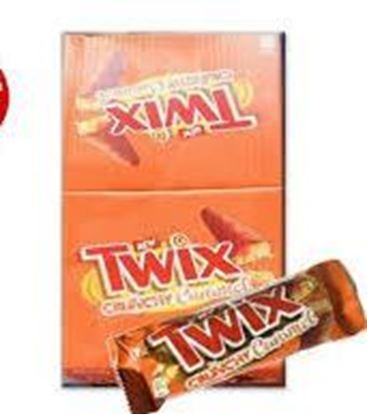 Picture of Twix Crunchy Caramel Bar 25 pc's Box -  1150 gm
